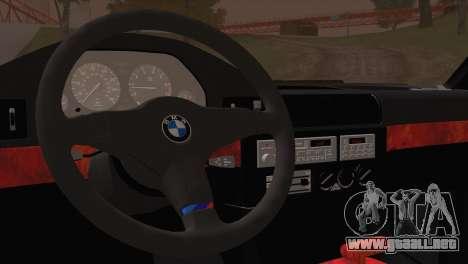 BMW 535i E34 Mafia Style para GTA San Andreas vista hacia atrás