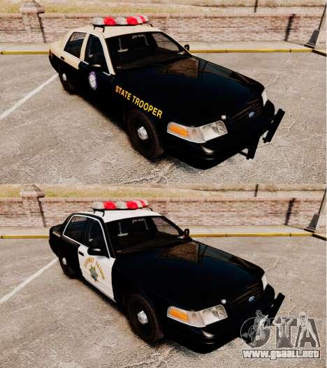 Ford Crown Victoria 1999 Florida Highway Patrol para GTA 4 vista interior