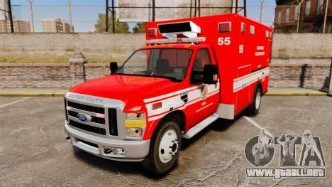 Ford E-350 LAFD Ambulance [ELS] para GTA 4