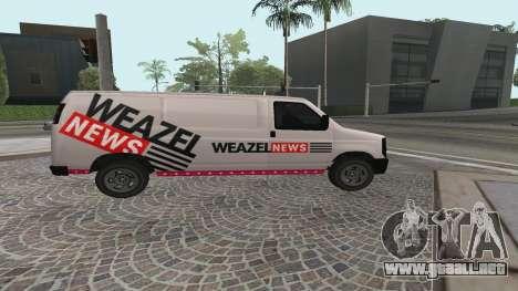 Newsvan Rumpo GTA 5 para GTA San Andreas left