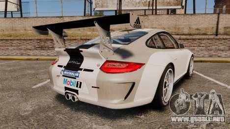 Porsche 911 (997) GT3 Cup para GTA 4 Vista posterior izquierda