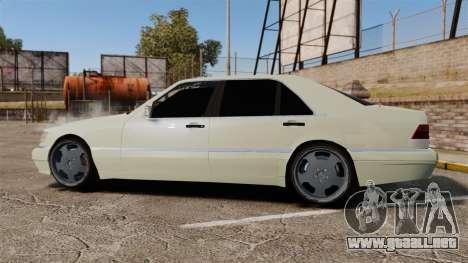 Mercedes-Benz S600 (W140) 1998 para GTA 4 left