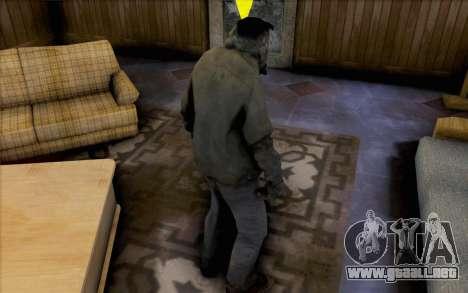 Left 4 Dead fumador para GTA San Andreas segunda pantalla
