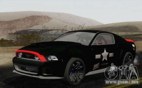 Ford Mustang GT 2013 para vista lateral GTA San Andreas