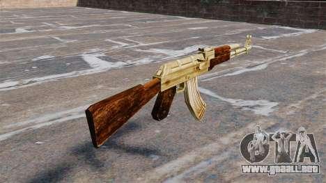 AK-47 de oro plateado para GTA 4 segundos de pantalla