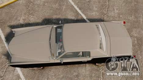 Cadillac Eldorado Coupe 1969 para GTA 4 visión correcta