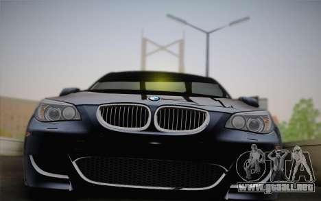BMW M5 para GTA San Andreas vista hacia atrás