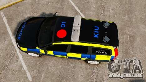 Volvo XC70 Police [ELS] para GTA 4 visión correcta