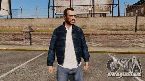 Cazadora de camuflaje azul para GTA 4