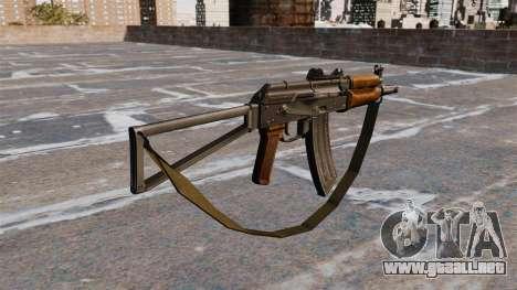 AKS74U automático con correa para GTA 4 segundos de pantalla