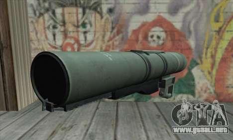 Bazooka para GTA San Andreas segunda pantalla