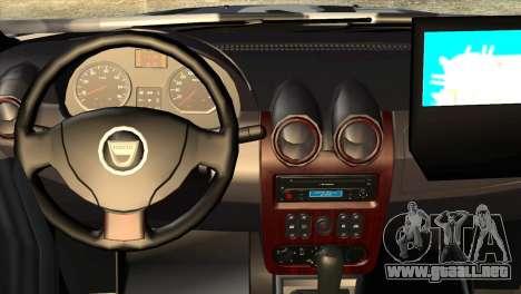 Dacia Duster Army Skin 3 para la visión correcta GTA San Andreas