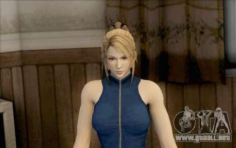 Sarah de Dead or Alive 5 para GTA San Andreas