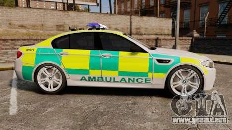 BMW M5 Ambulance [ELS] para GTA 4 left