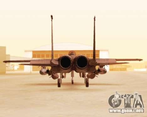 F-15E Strike Eagle para GTA San Andreas vista hacia atrás