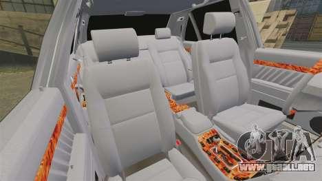 Mercedes-Benz S600 (W140) 1998 para GTA 4 vista desde abajo