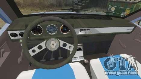 Renault 12 Toros v2.0 para GTA 4 vista hacia atrás