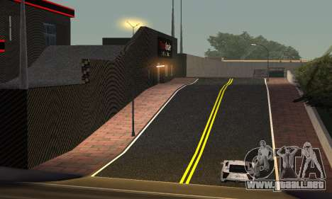 Nuevo showroom en cabello para GTA San Andreas tercera pantalla