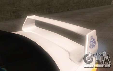 Subaru Impreza 2006 WRX STi Police Malaysian para la visión correcta GTA San Andreas