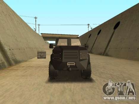 Ford Super Duty Armored para la visión correcta GTA San Andreas