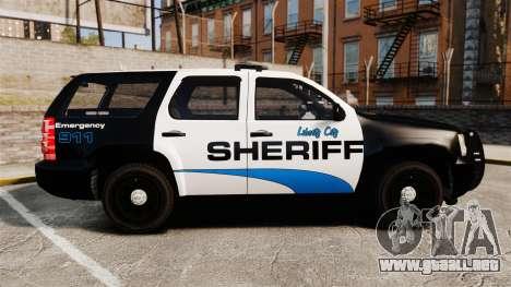 Chevrolet Tahoe 2008 Federal Signal Valor [ELS] para GTA 4 left