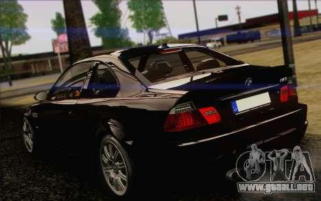 BMW M3 E46 2005 para vista lateral GTA San Andreas