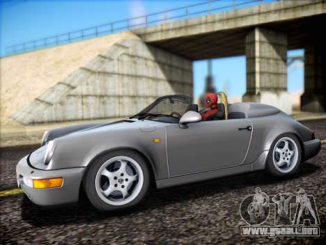 Porsche 911 Speedster Carrera 2 1992 para vista inferior GTA San Andreas