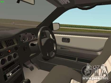 Nissan Skyline R33 GT-R para GTA San Andreas vista hacia atrás