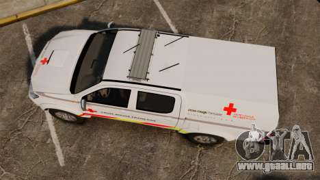 Toyota Hilux French Red Cross [ELS] para GTA 4 visión correcta