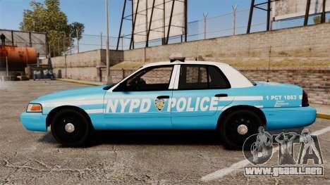 Ford Crown Victoria NYPD [ELS] para GTA 4 left