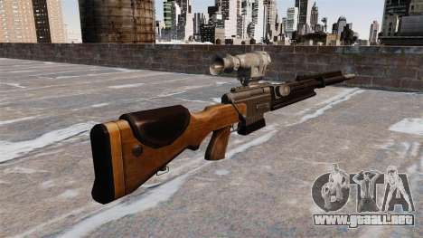 El rifle de francotirador FR F2 para GTA 4 segundos de pantalla