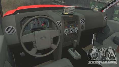 Ford E-350 LAFD Ambulance [ELS] para GTA 4 vista hacia atrás