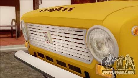 VAZ 21011 de Taxi para GTA San Andreas vista hacia atrás