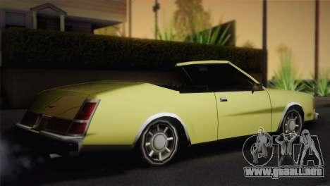 2 puertas cabriolet, Washington para GTA San Andreas left