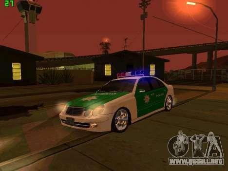 Mercedes-Benz  E500 Polizei para visión interna GTA San Andreas