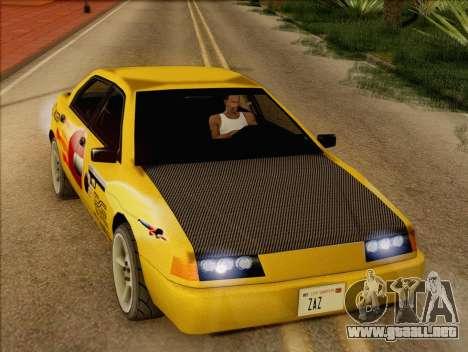 Stratum Sedan Sport para GTA San Andreas vista hacia atrás
