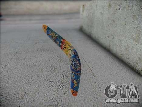 Boomerang para GTA San Andreas segunda pantalla