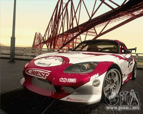 Honda S2000 RS-R para vista inferior GTA San Andreas