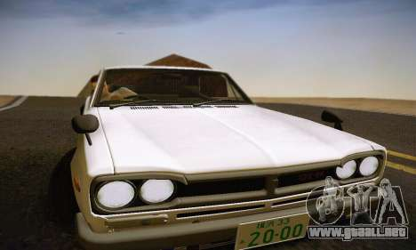 Nissan Skyline 2000GTR 1967 Hellaflush para el motor de GTA San Andreas