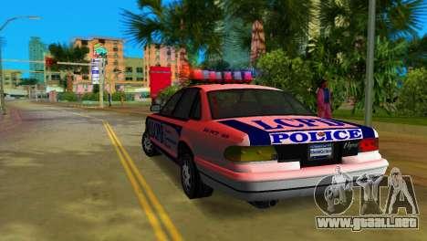 GTA IV Police Cruiser para GTA Vice City visión correcta