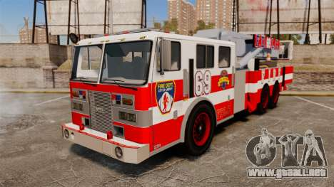 MTL Firetruck Tower Ladder FDLC [ELS-EPM] para GTA 4