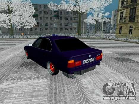 BMW 525i e34 Hobo para visión interna GTA San Andreas
