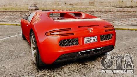 GTA V Truffade Adder para GTA 4 Vista posterior izquierda