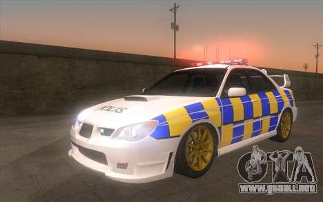 Subaru Impreza 2006 WRX STi Police Malaysian para GTA San Andreas