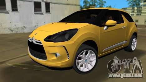 Citröen DS3 2011 para GTA Vice City