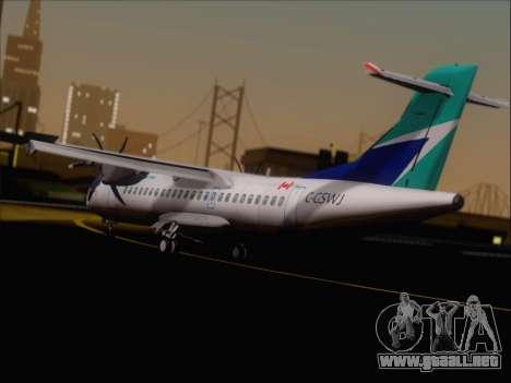 ATR 72-500 WestJet Airlines para la visión correcta GTA San Andreas