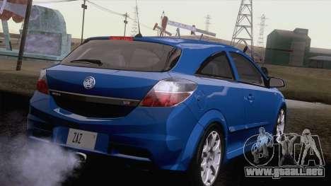 Vauxhall Astra VXR  2007 para GTA San Andreas vista posterior izquierda
