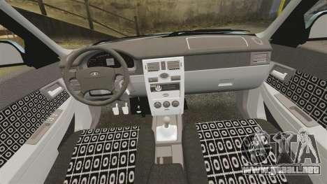 Vaz-2170 Lada Priora para GTA 4 vista lateral
