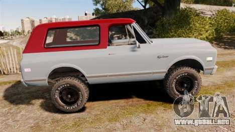 Chevrolet K5 Blazer para GTA 4 left