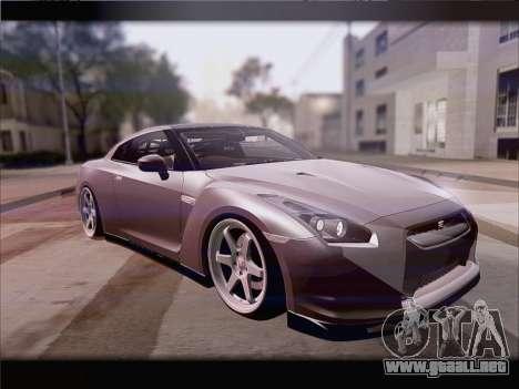 Nissan GT-R Spec V Stance para GTA San Andreas left